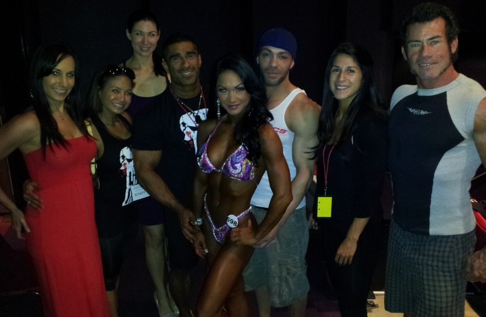 With fellow 619 Muscle athletes and inspiration Francine, Figure Class Overall winner!